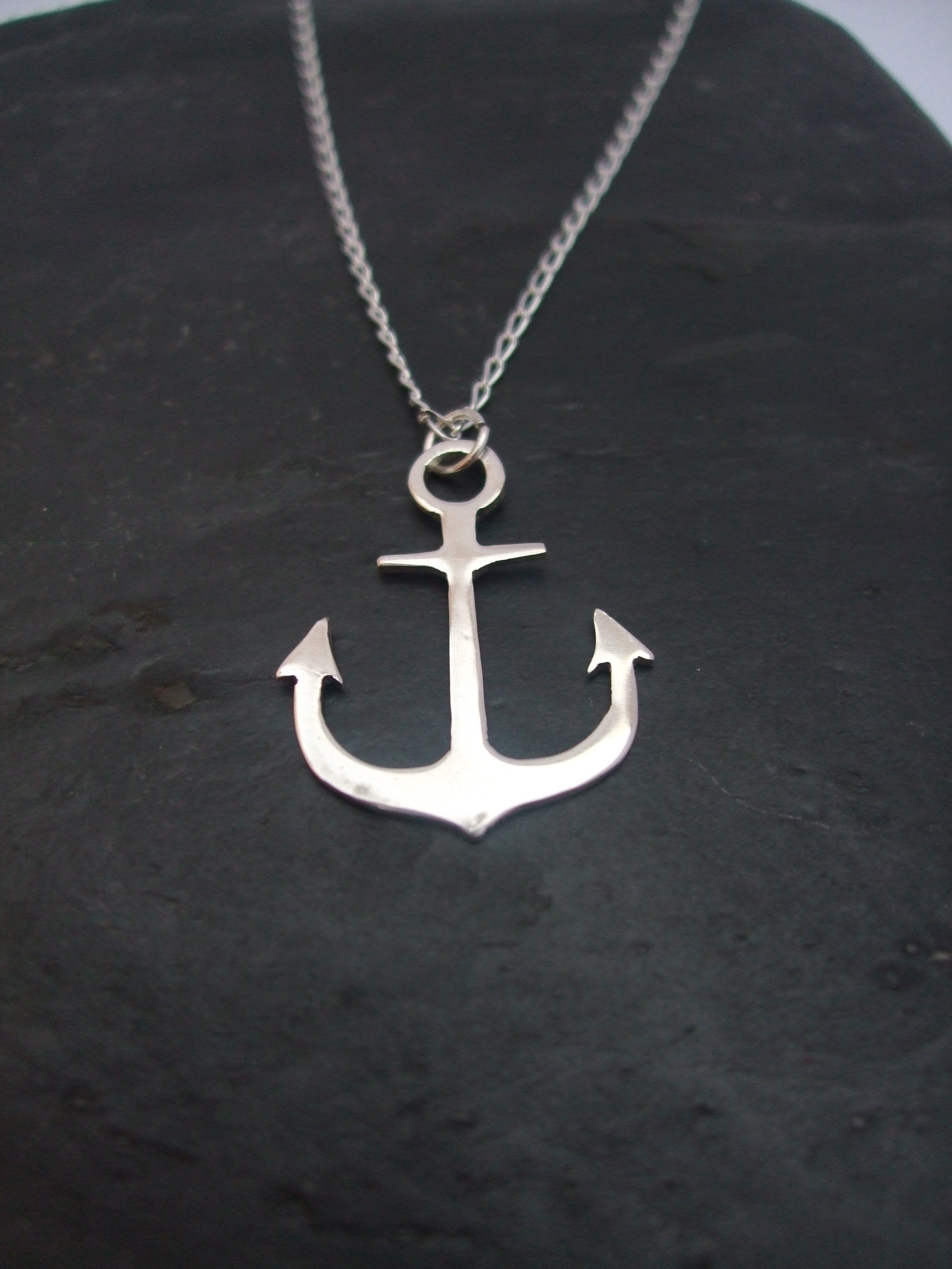 sterling necklace silver in anchor