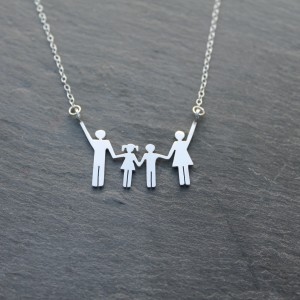 Family necklace hanging in there
